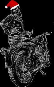 Motocyklistka z czapką mikołaja :)