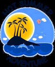 Bluza dziecięca z kapturem na wakacje i lato - Hot Summer Adventure