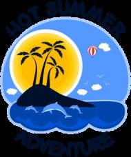 Kubek biały na lato i wakacje - Hot Summer Adventure