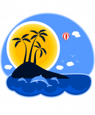 Bluza męska granatowo-szara na wakacje i lato - Hot Summer Adventure