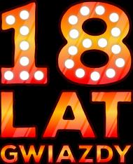 Urodzinowa koszulka męska bezrękawnik - 18 Lat Gwiazdy