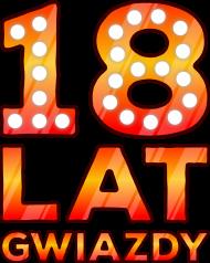 Urodzinowa koszulka damska czarna bezrękawnik - 18 Lat Gwiazdy