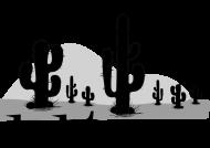 Koszulka damska biała na wakacje i lato - Kaktus