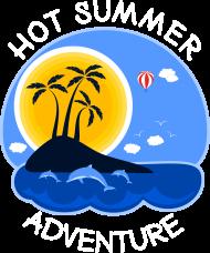 Koszulka damska różowa na wakacje i lato - Hot Summer Adventure