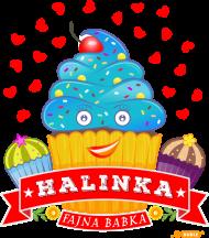Halinka Fajna Babka - Kubek biały z sercem i imieniem