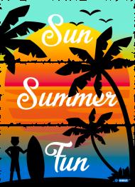 Sun Summer Fun - Biała koszulka męska