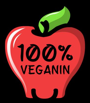 100% Veganin - Koszulka męska w serek