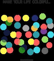 Kubek w kolorowe groszki