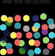 Portfel w kolorowe groszki