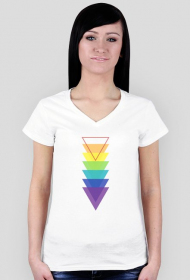 T-shirt damski w trójkąty