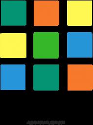 Kubek w kolorowe kwadraciki