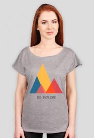 Luźny t-shirt damski Go Explore