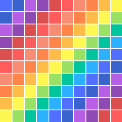 T-shirt męski w kolorowe kwadraty
