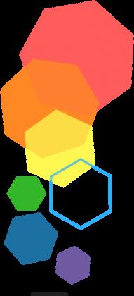 Torba w kolorowe heksagony