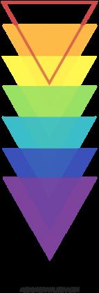 Torba w kolorowe trójkąty
