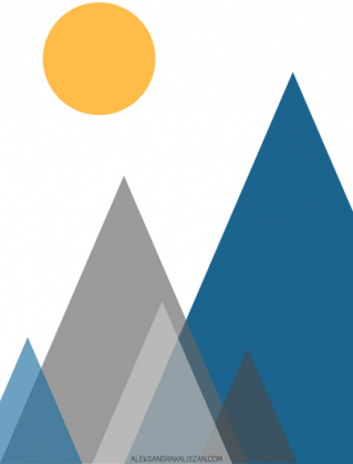 Kubek z górami
