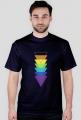 T-shirt męski w trójkąty