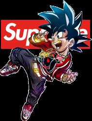 Bluza Goku Supreme Golden dla Niego - Anime Street Wear