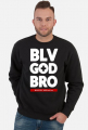 Bluza męska czarna. Belive God Brother