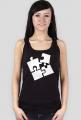 koszulka kobieta białe puzzle