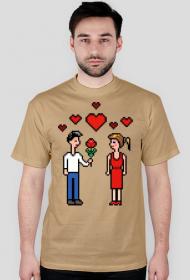 Pixel art – zakochana para (t-shirt)