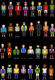 Pixel art – ludzie z pikseli, avatary t-shirt