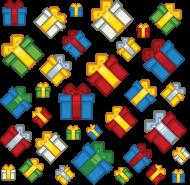 Pixel art – prezenty świąteczne t-shirt (różne kolory)