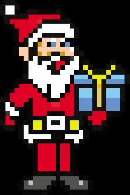 Pixel art – święty mikołaj – koszulka damska w stylu retro gier