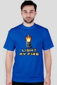 Pixel art – light my fire, t-shirt
