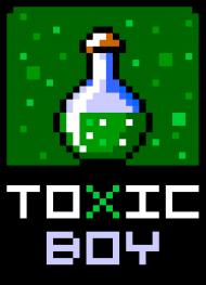 Pixel art – toxic boy – koszulka dla faceta z charakterem
