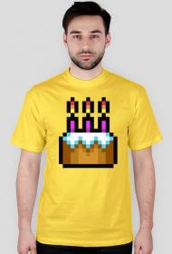 Pixel art – tort urodzinowy, happy birthday