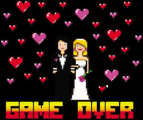 Pixel art – game over koszulka na wieczór panieński (różne kolory)