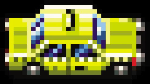 Pixel art – pikselowane taxi