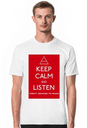 Koszulka Keep Calm Grafika Thirty Second To Mars