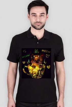 black mandala cat kot koszulka