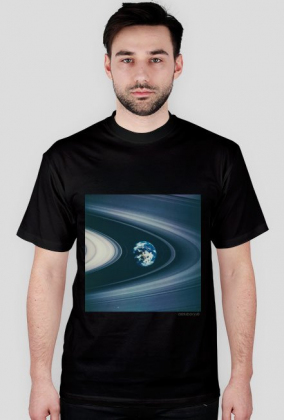 over size saturn rings t-shirt /black