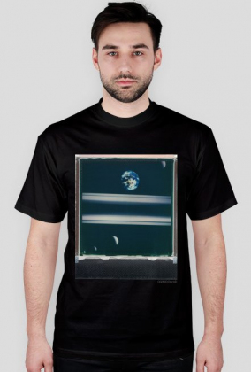 Saturn Moons T-Shirt/ black