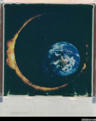 Space Eclipse Hoodie/ Grey