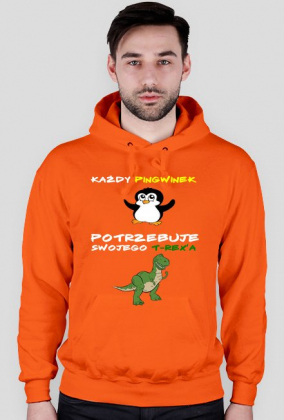 "Bluza z kapturem ""Pingwiny i T-rex'y"""