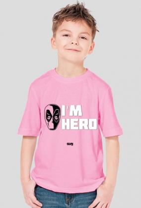 Deadpool I'm Hero Koszulka chłopięca