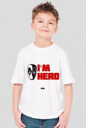 Deadpool I'm Hero Koszulka chłopięca 2