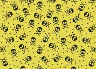 Maseczka lniana żółta czaszki