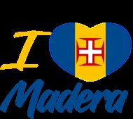 Koszulka I love Madera + flaga