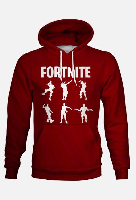 bluza red fortnite dance