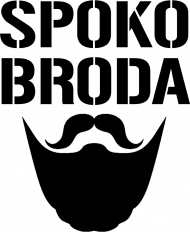 FUNPAL - SPOKO BRODA - koszulka męska czarny nadruk