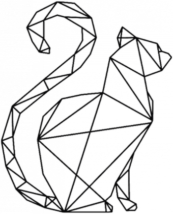 Klasyczny Kubek Geometryczny Kot Kubki W Laland