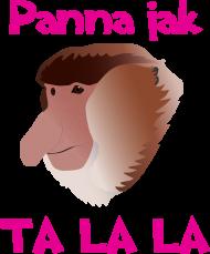 Koszulka damska - Panna jak Ta lala (róż)