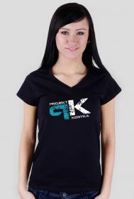 Koszulka Damska z lekkim dekoltem Projekt Kostka