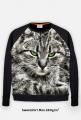 Bluza 280g/m2 Kot z zielonymi oczami