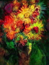Astrokwiaty maseczka